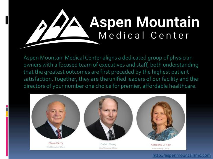 Aspen Mountain Medical Center aligns a dedicated group of physician owners with a focused team of ex...