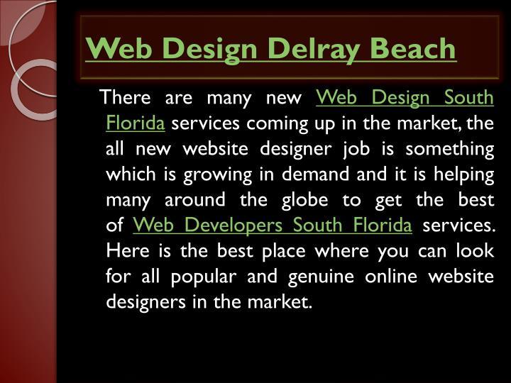Web design delray beach