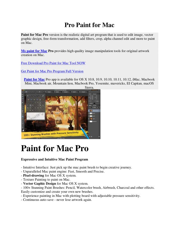 Pro Paint for Mac
