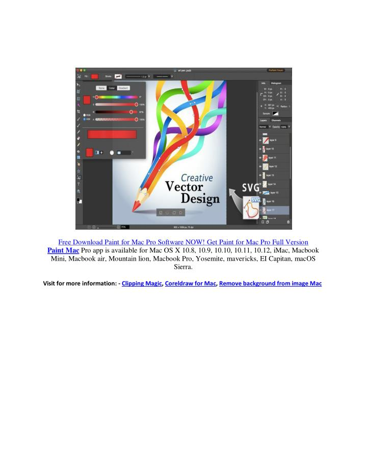 Free Download Paint for Mac Pro Software NOW! Get Paint for Mac Pro Full Version