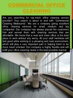 commercial office cleaning