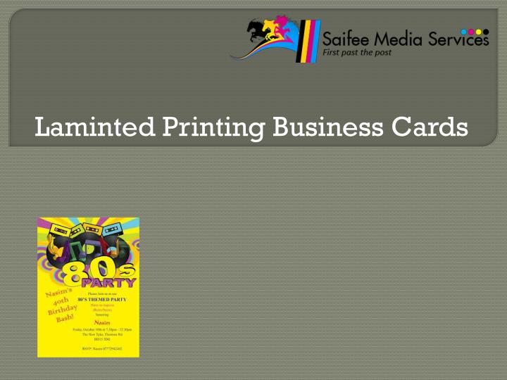 Laminted Printing Business Cards