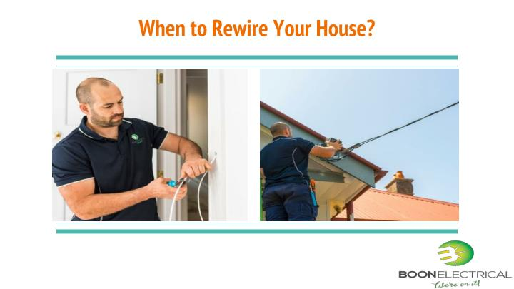 when to rewire your house n.