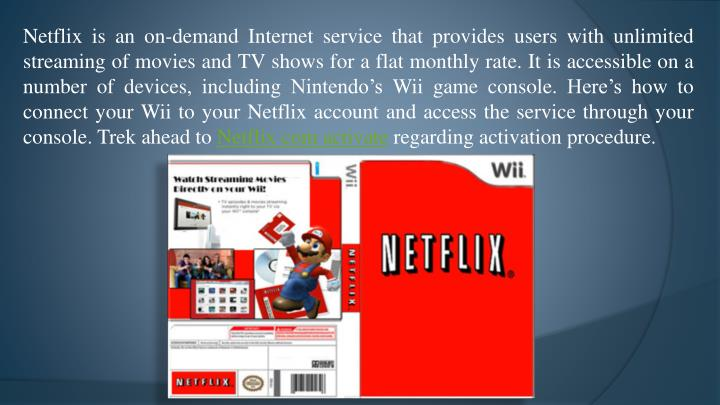 Netflix is an on-demand Internet service that provides users with unlimited streaming of movies and ...