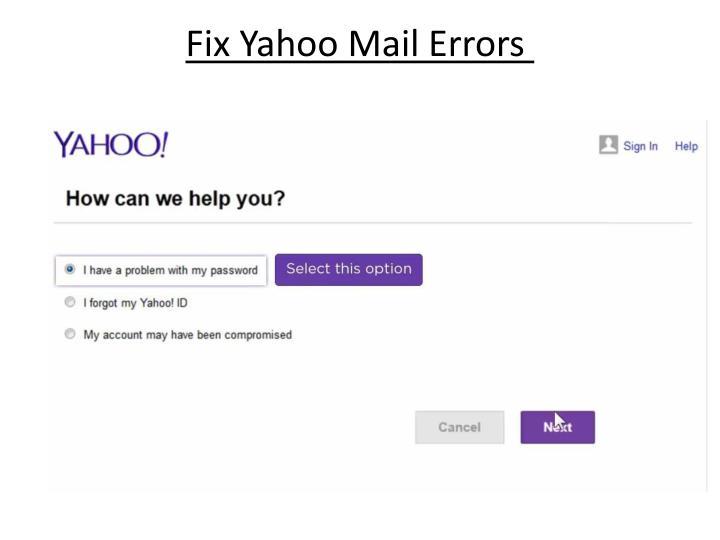 Fix yahoo mail errors