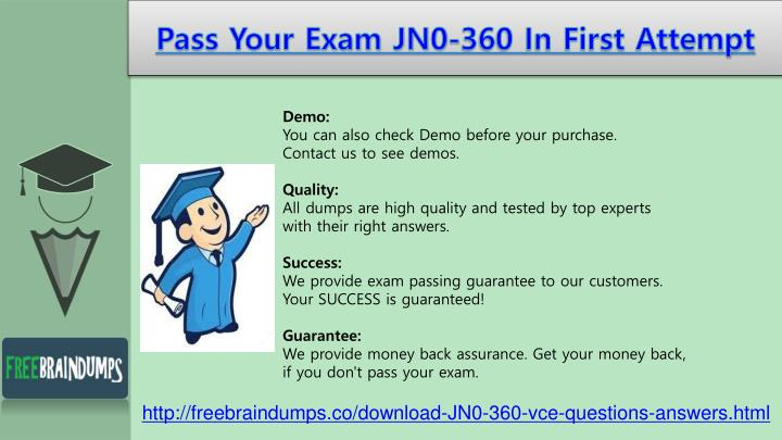 Pass your exam jn0 360 in first attempt