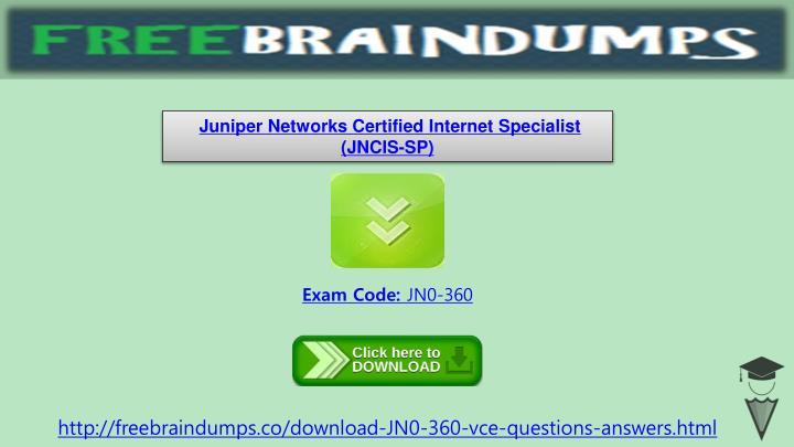 Juniper Networks Certified Internet Specialist (JNCIS-SP)