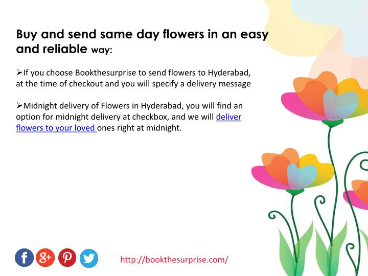 Buy and send same day flowers in an easy and reliable