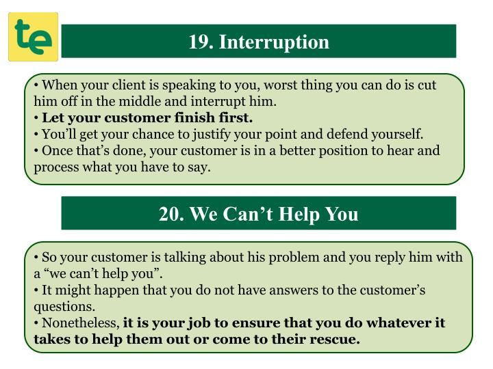19. Interruption