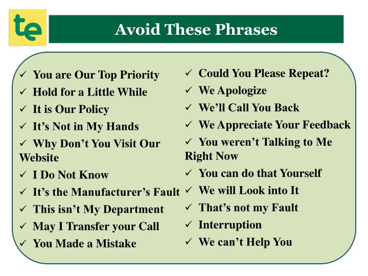 Avoid These Phrases