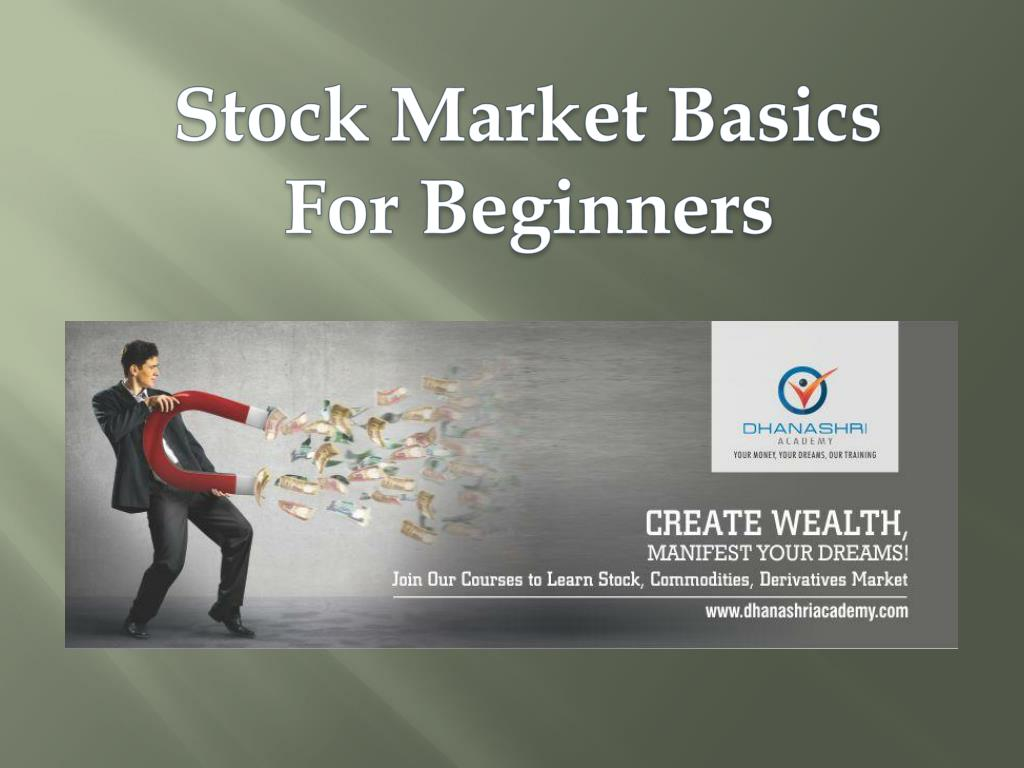 Stock Market Basics For Beginners Share Point Ppt Presentation