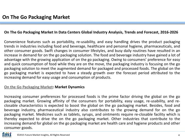 On The Go Packaging Market