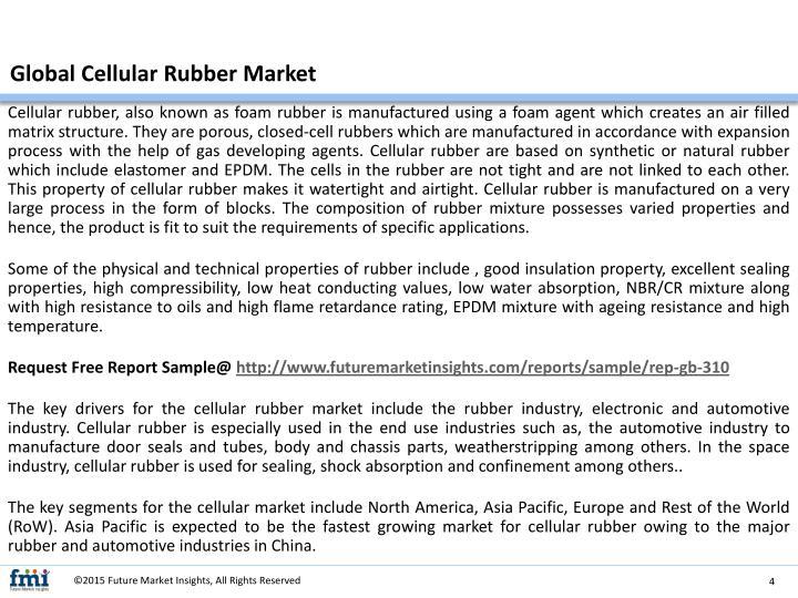 Global Cellular Rubber Market