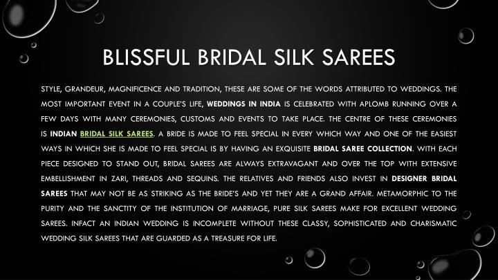 Blissful bridal silk sarees