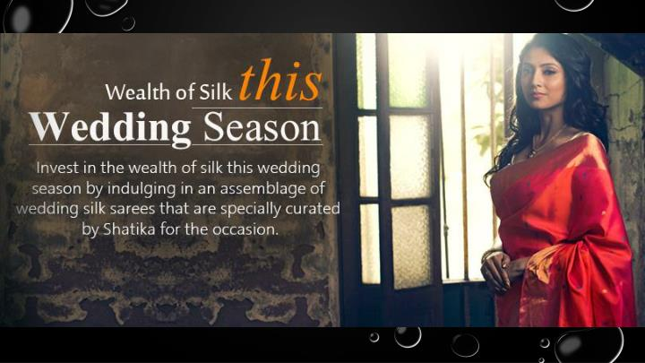 Exclusive bridal silk sarees online shopping