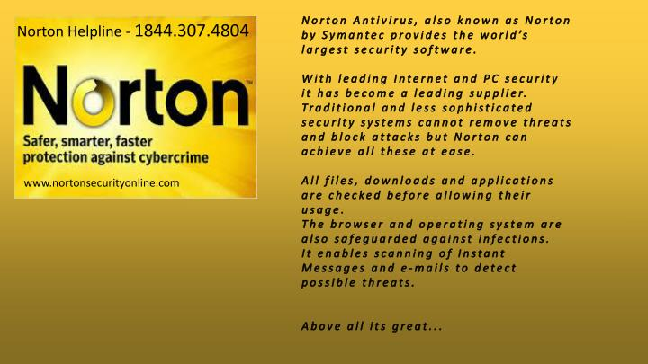 Norton Antivirus, also known as Norton by Symantec provides the world's largest security software.