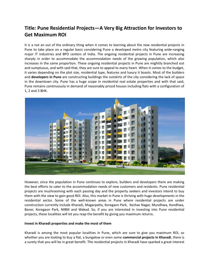 Title: Pune Residential Projects