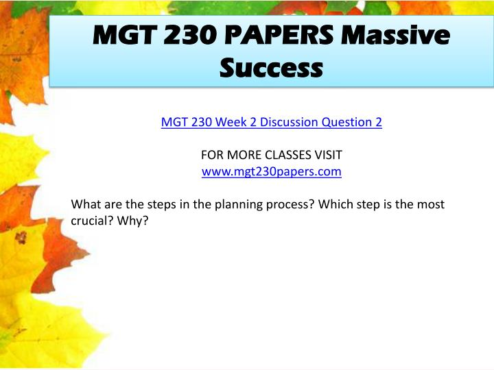 mgt 230 discussion questions