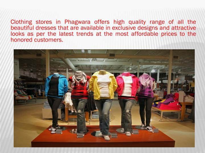 Clothing stores in