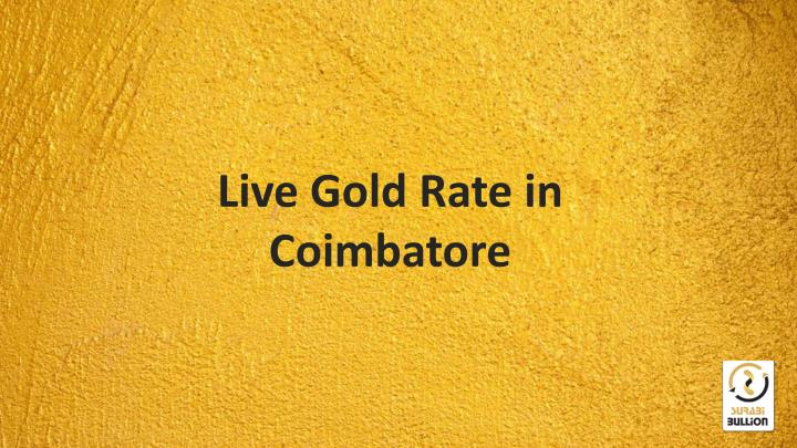 Live Gold Rate in Coimbatore