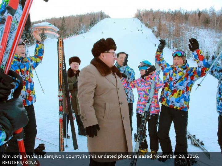 Kim Jong Un visits Samjiyon County in this undated photograph discharged November 28, 2016. REUTERS/KCNA