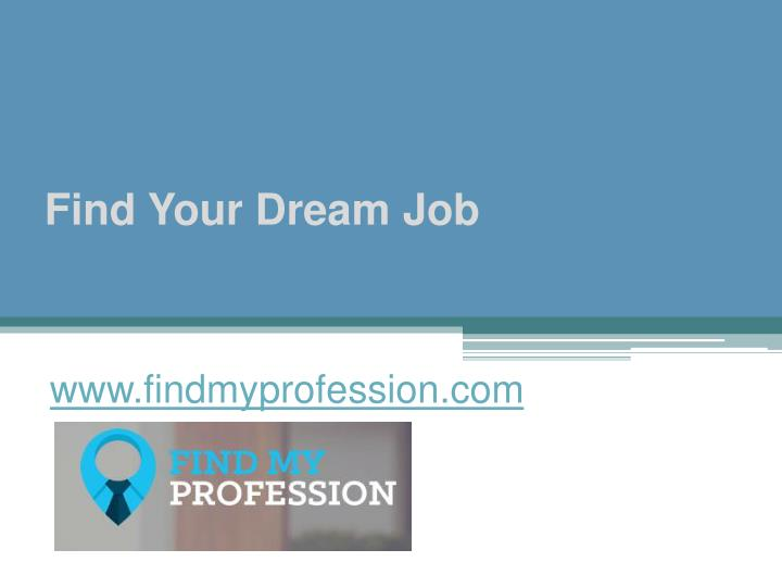 find your dream job n.