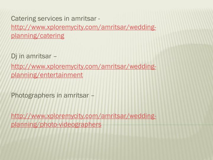 Catering services in