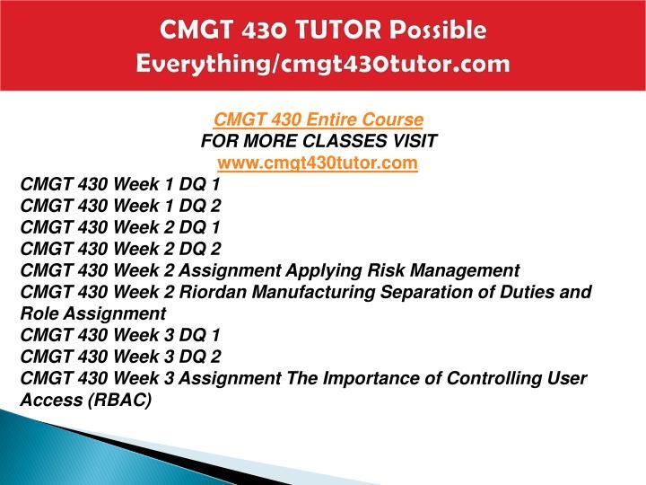 Cmgt 430 tutor possible everything cmgt430tutor com1