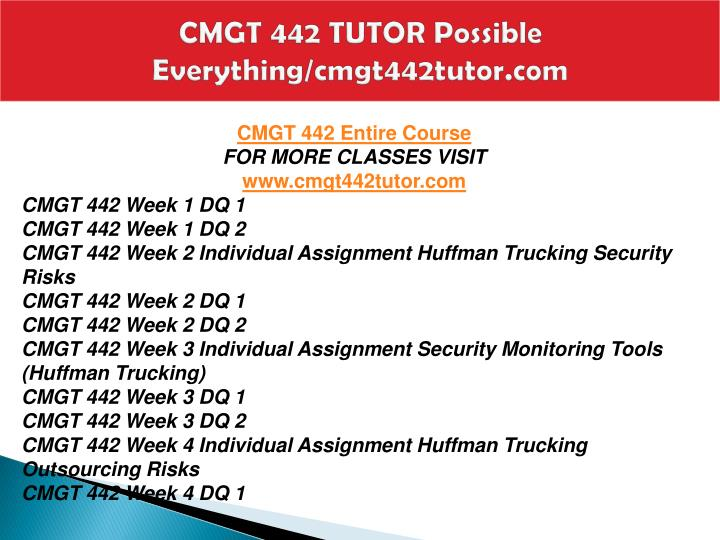 Cmgt 442 tutor possible everything cmgt442tutor com1