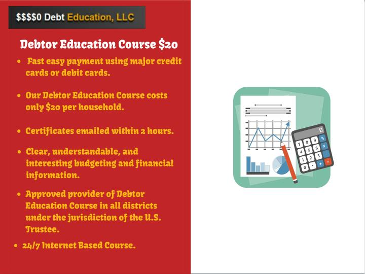 Debtor Education Course $20