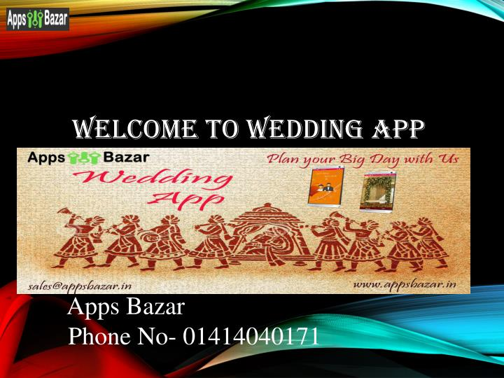 WelCome To WEDDING APP
