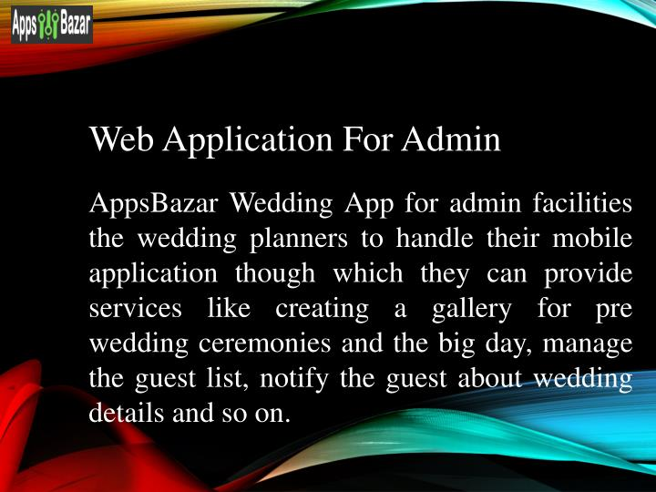 Web Application For Admin