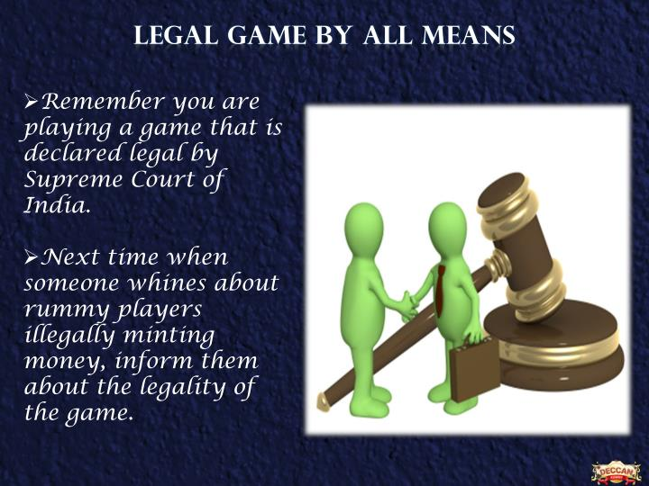 LEGAL GAME by all means