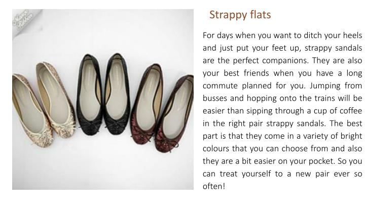 Strappy flats