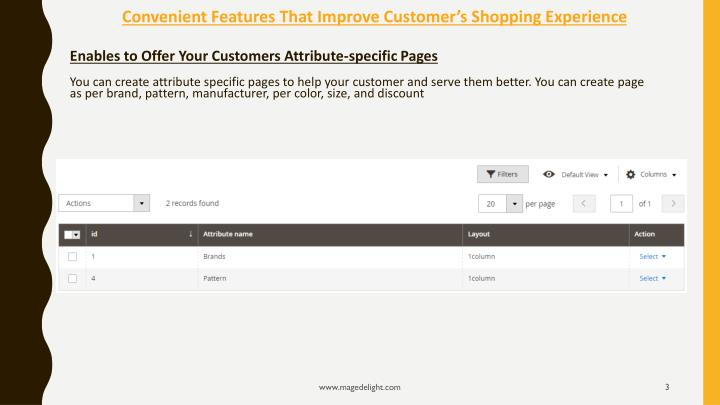 Convenient features that improve customer s shopping experience