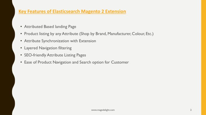 Key features of elasticsearch magento 2 extension