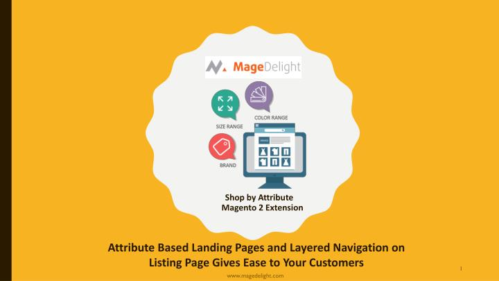 Shop by attribute magento 2 extension