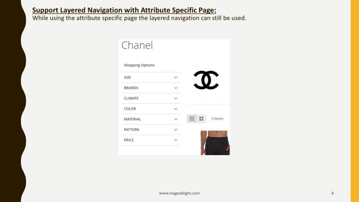 Support Layered Navigation with Attribute