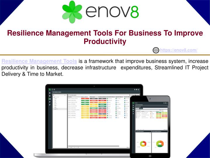 Resilience management tools for business to improve productivity