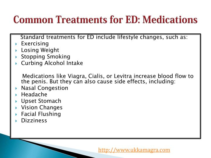 Common Treatments for ED: