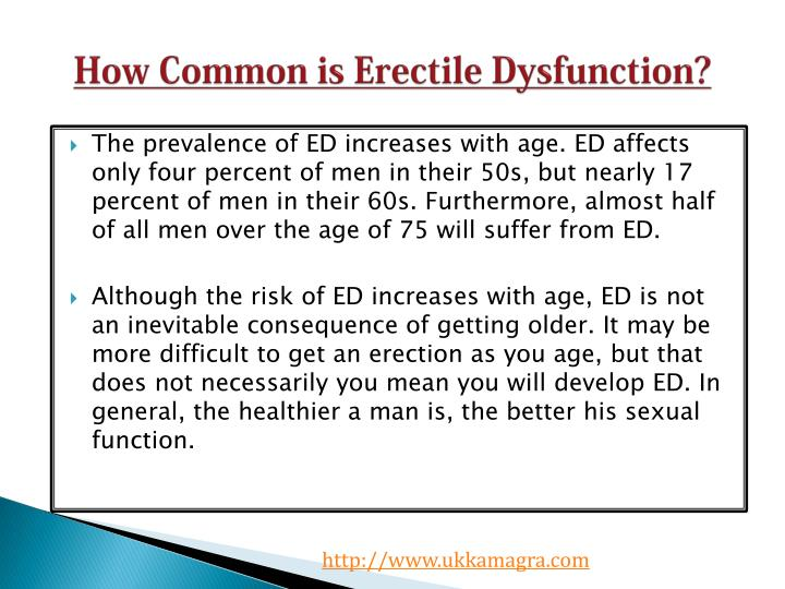How common is erectile dysfunction