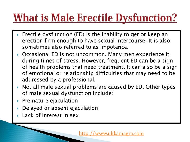 What is male erectile dysfunction