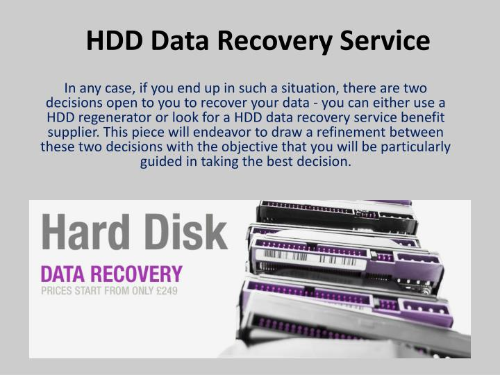 HDD Data Recovery Service