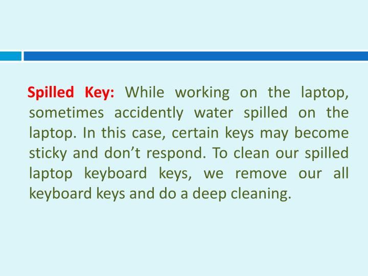 Spilled Key