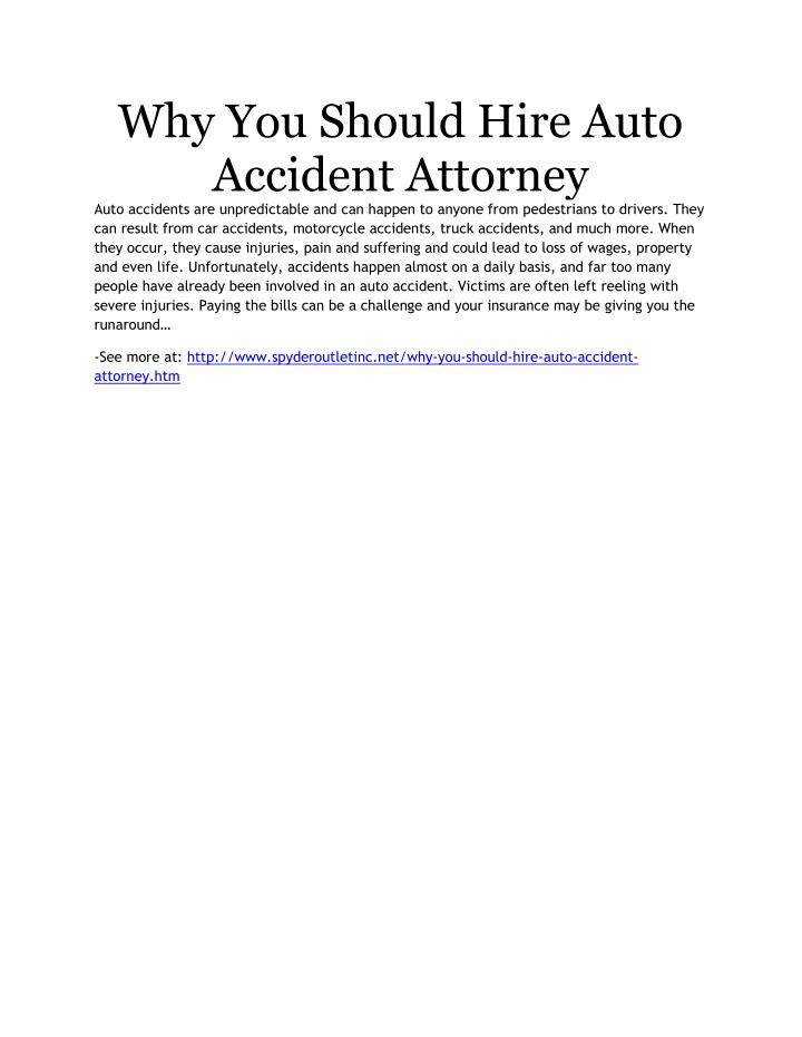 Why You Should Hire Auto