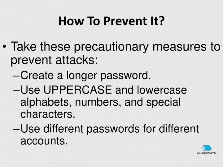 How To Prevent It?