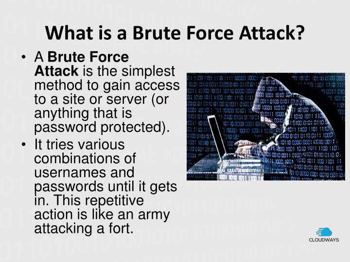 What is a brute force attack