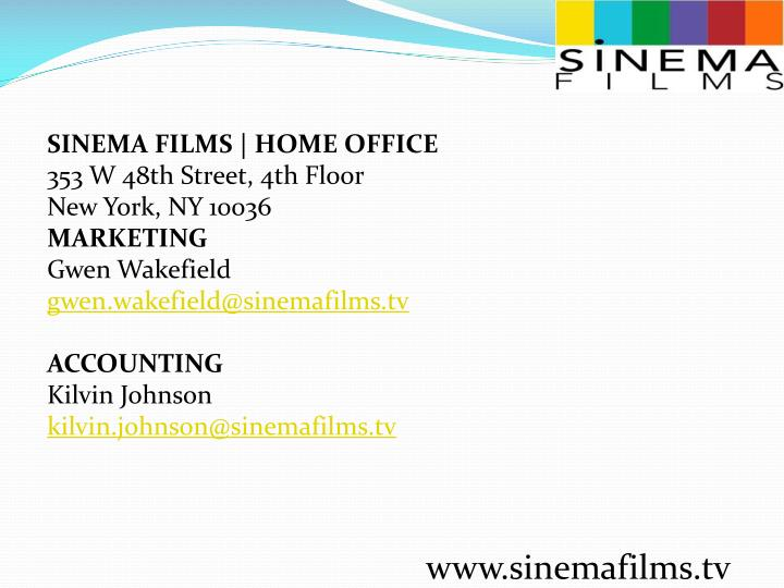 SINEMA FILMS | HOME OFFICE