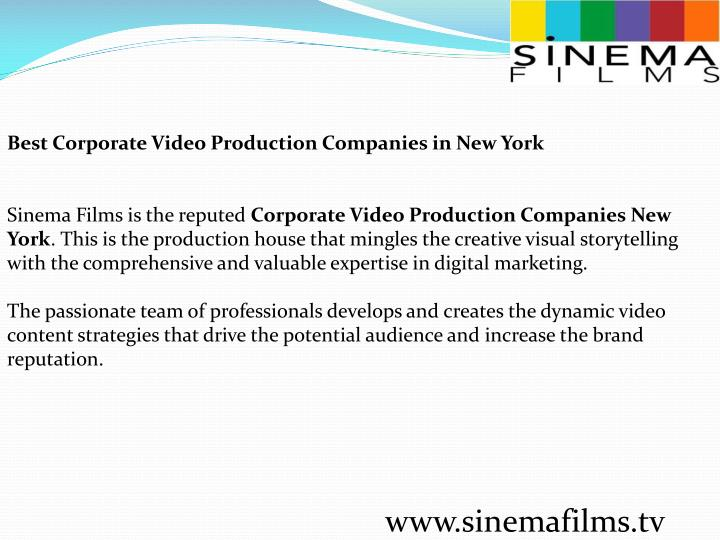 Best Corporate Video Production Companies in New