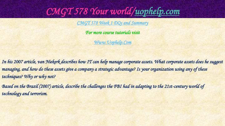 Cmgt 578 your world uophelp com2
